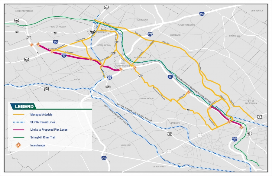 I-76 Corridor Site Map
